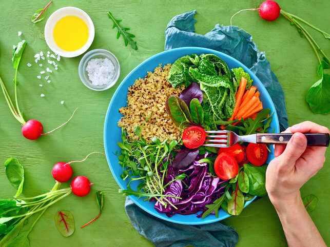 جزو اصلی بشقاب وگان ها سبزیجات میباشد